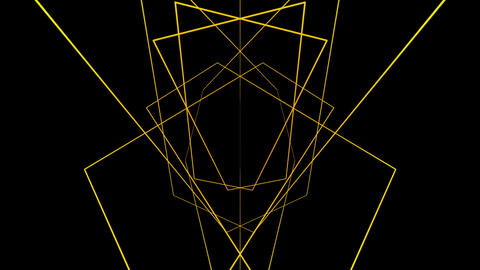 Yellow structural motion laser lines effect on black motion background VJ Loop Live Action