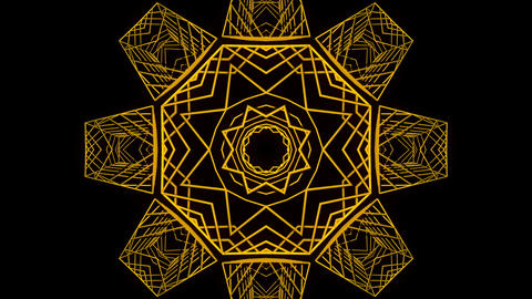 Yellow symmetrical motion laser line effect on black motion background VJ Loop Footage