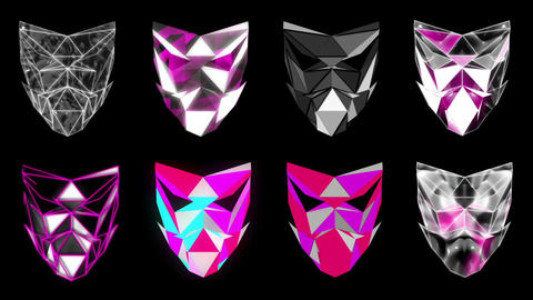 Polygonal Mask Face strobe pattern motion background VJING HD vj loop Live Action