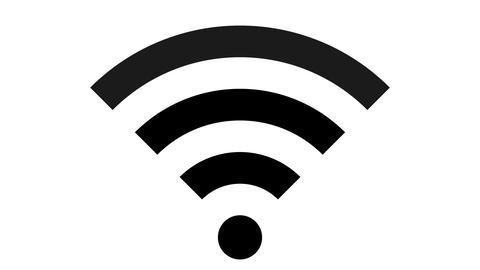 Wifi - set of symbols icons - black simple on white Animation