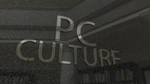Powerful PC Culture Billboard Sign Footage