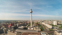 Berlin Germany time lapse 4K, city skyline timelapse at alexanderplatz and TV Footage