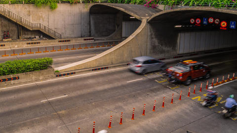 Thu Thiem underground tunnel time lapse. Ho Chi Minh City, Vietnam GIF