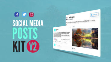 Social Media Animated Post Kit V2 After Effects Template