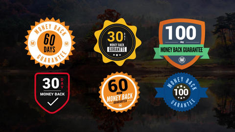 Moneyback Guarantee Badges Pack After Effects Template