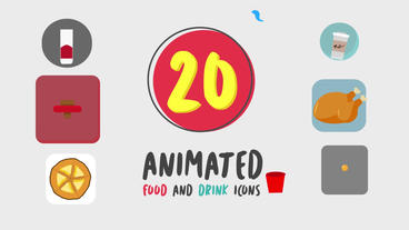 Food and Drink Icons Presets After Effects Animation Preset