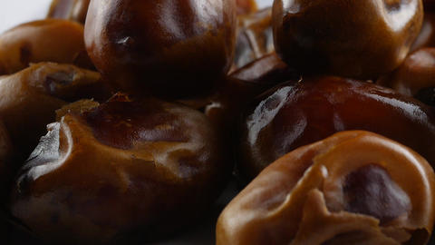 Dried dates (fruits of date palm Phoenix dactylifera) Live Action