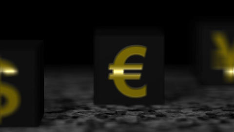 Block black currency Animation