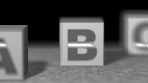 Block white alphabet Animation