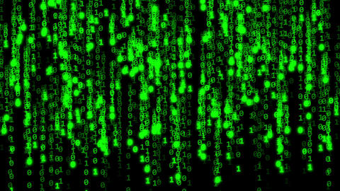 Code binary green Animation