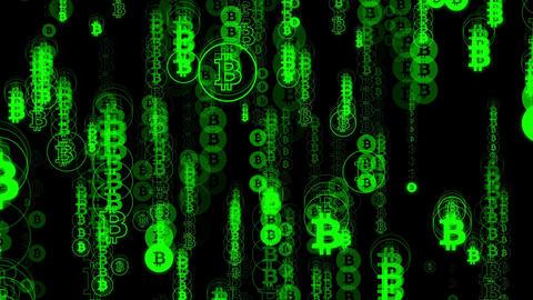 Code bitcoin green Animation