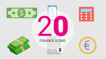 20 Finance Animated Icons Pack After Effects Animation Preset