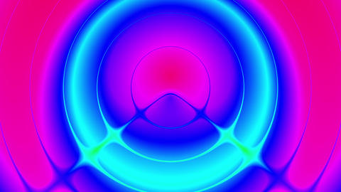 Psychedelic Colorful Pulse Burst Circle Radio Abstract VJ Motion Background 3 Animation