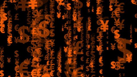 Code currency orange Animation