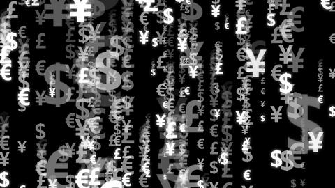 Code currency white Animation