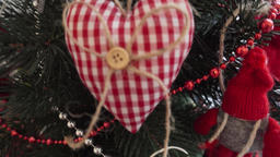 Decorative heart - Christmas decoration on the Christmas... Stock Video Footage