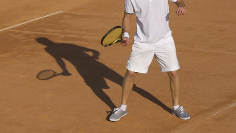 Advanced tennis player returning ball during match, popular sports, lifestyle Live Action