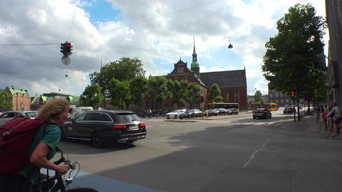 Holmens Kirke. Navy church. Church Of Holmen. Copenhagen. Denmark. Shot in 4K Footage