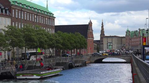 Holmens Kirke. Navy church. Church Of Holmen. Copenhagen. Denmark. Shot in 4K Live Action