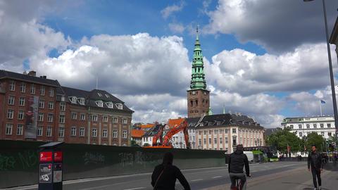 Copenhagen Center. Old city. Architecture. Houses, streets, neighborhoods. Footage