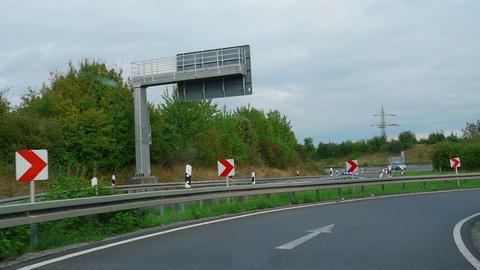 Autobahn Near Karlsruhe stock footage