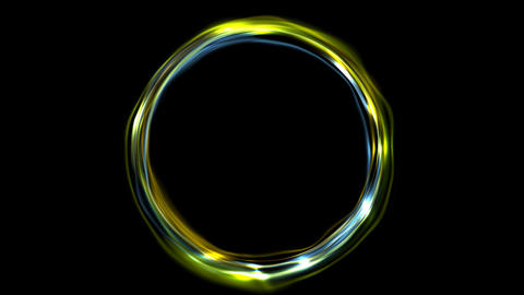 Electric neon iridescent flowing ring video animation Animation