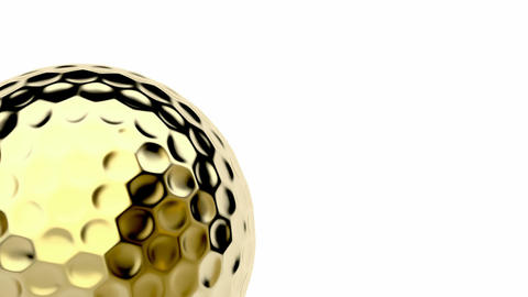Golden golf ball CG動画素材