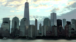 USA New York City 379 finest daybreak mood of Financial District Lower Manhattan Footage