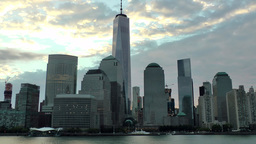 USA New York City 380 early daybreak at Financial District with new One WTC Footage