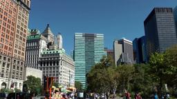 USA New York City 388 Lower Manhattan; buildings around Battery Place Footage