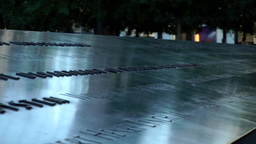 New York City 440 Manhattan nine eleven memorial border of south pool Footage