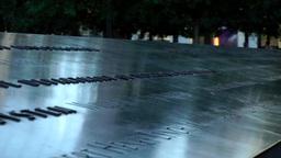 New York City 440 Manhattan nine eleven memorial border of south pool Footage