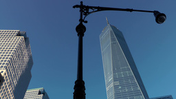 New York City 437 Manhattan downtown One World Trade Center and lantern Footage