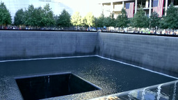 New York City 441 nine eleven memorial water surface at border of pool Footage