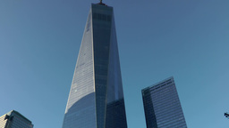 New York City 446 Manhattan panning up to the top of One World Trade Center Footage