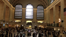 New York City 453 midtown inside main hall Grand Central Terminal Footage