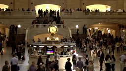 New York City 455 Grand Central Terminal view from gallery to famous clock Footage