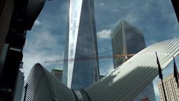 New York City 457 Ground Zero construction site of new transit center Footage