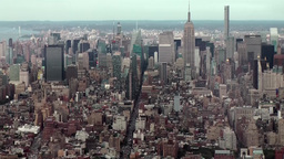 New York City 462 view to midtown from top of new One World Trade Center Footage