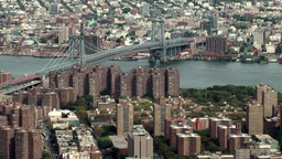 New York City 463 East River and Williamsburg Bridge from World Trade Center Footage