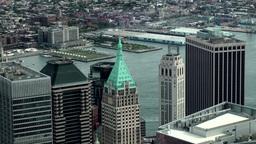 New York City 466 Wall Street skyscraper seen from new world trade center Footage