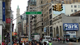 New York City 468 downtown Chinatown district Canal Street crossing Footage