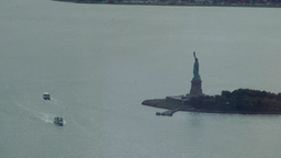 New York City 460 statue of liberty seen from the new One World Trade Center Footage
