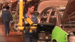 China car factory worker Footage
