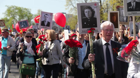 demonstration on Victory Day Footage