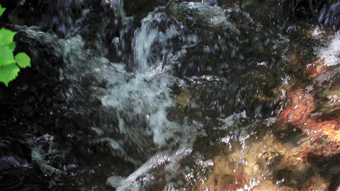 Fresh Water Flowing Over Rocks Live Action