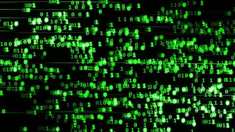 Code binary green CG動画素材