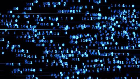 Code binary blue Animation