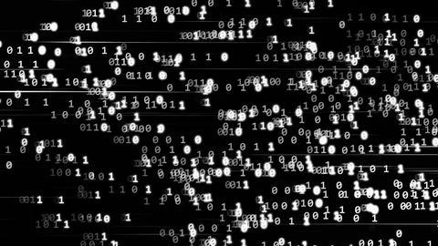 Code binary white Stock Video Footage