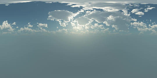 VR 360 degree Panoramic Sky and Clouds. ready for use in 3D environment Footage